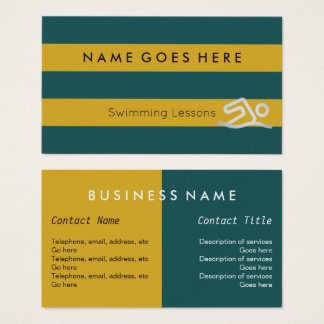 """Flags"" Swimming Instructor Business Cards"