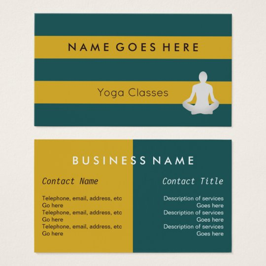 """Flags"" Yoga Instructor Business Cards"