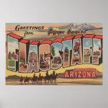 Flagstaff, Arizona - Large Letter Scenes Poster
