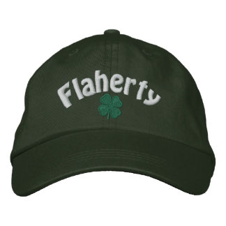 Flaherty  - Four Leaf Clover - Customized Embroidered Hat