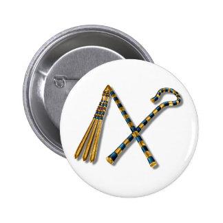 Flail & Crook 6 Cm Round Badge