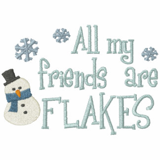 Flakey Friends Embroidered Hooded Sweatshirts