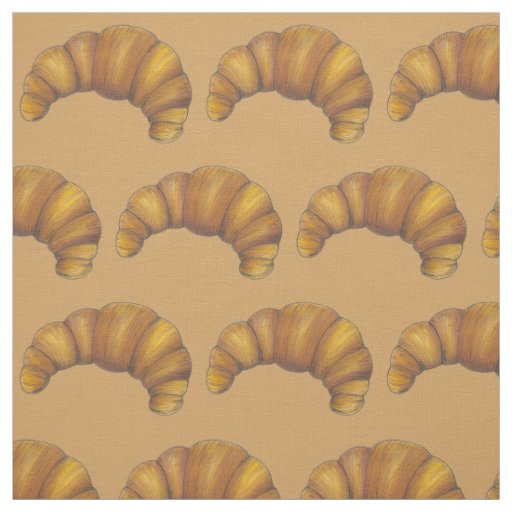 Flaky Buttery Croissant French Pastry Food Bakery Fabric