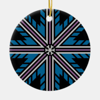 Flaky ornament, double-sided round ceramic decoration