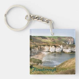 Flamborough in East Yorkshire souvenir photo Key Ring