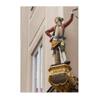 Flamboyant Building Statue Acrylic Print