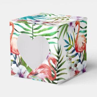 Flamboyant Flamingo Tropical nature garden pattern Favour Box