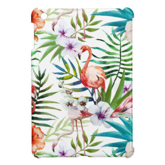 Flamboyant Flamingo Tropical nature garden pattern iPad Mini Case
