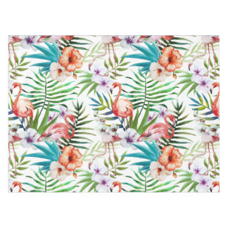 Flamboyant Flamingo Tropical nature garden pattern Tablecloth
