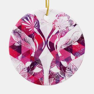 Flamboyant Flamingos Christmas Ornament