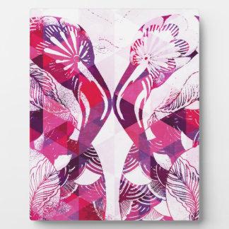 Flamboyant Flamingos Photo Plaque