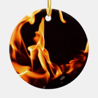 Flame 2 christmas ornament