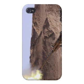 Flame and smoke emerge from the muzzle case for iPhone 4