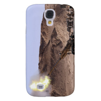 Flame and smoke emerge from the muzzle galaxy s4 case