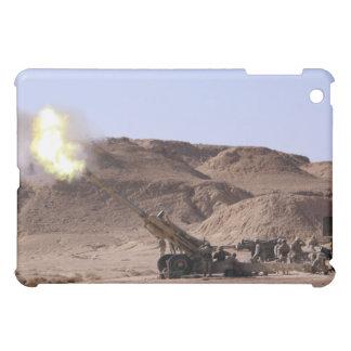 Flame and smoke emerge from the muzzle iPad mini covers