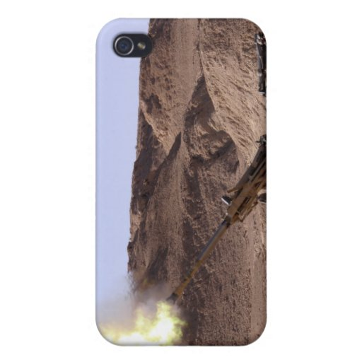 Flame and smoke emerge from the muzzle iPhone 4/4S cases