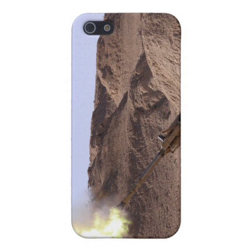 Flame and smoke emerge from the muzzle iPhone 5 cover