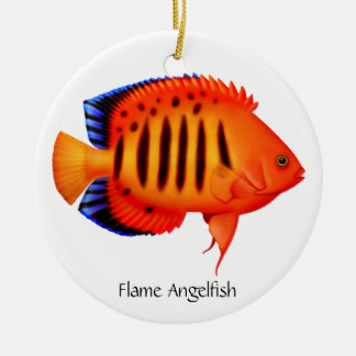 Flame Angelfish Customizable Ornament