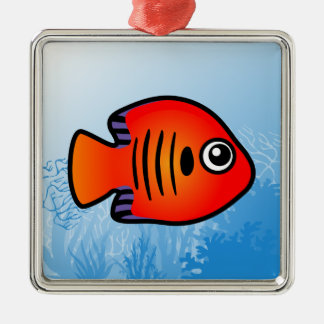 Flame Angelfish Ornaments