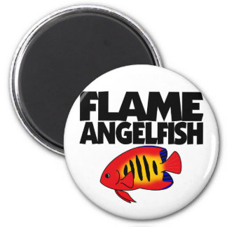 Flame Angelfish Magnet