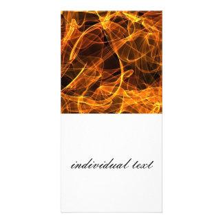 flame art orange 010 photo card template
