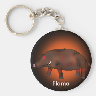 Flame Basic Round Button Key Ring