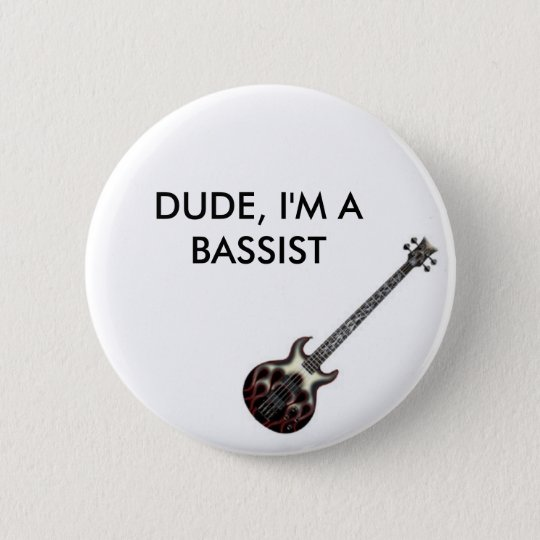 Flame_Bass 6 Cm Round Badge