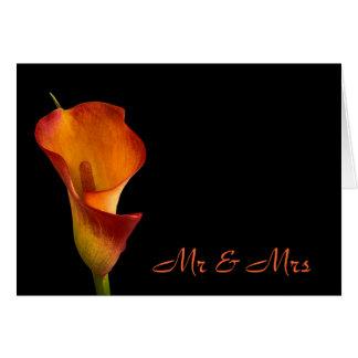 Flame Calla Lily Card