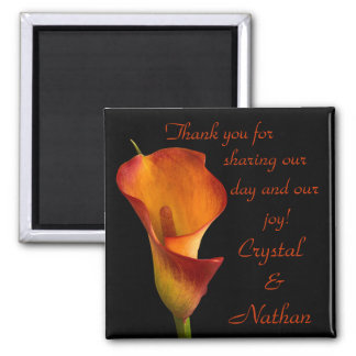 Flame Calla Lily Magnet