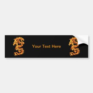 Flame Dragon Bumper Sticker