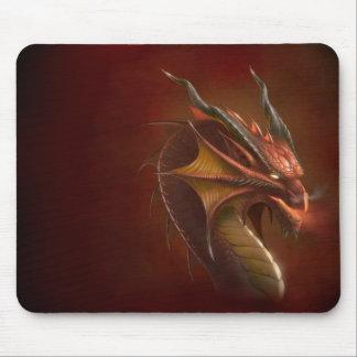 Flame dragon mouse pad