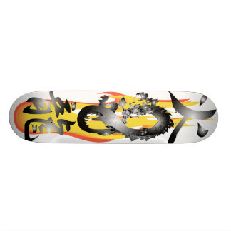 Flame Fire Dragon 3D remix Skateboards