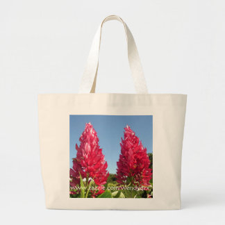 Flame Flowers tote