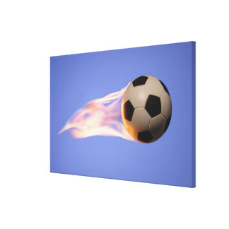 Flame Football Canvas Print