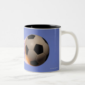 Flame Football Two-Tone Coffee Mug