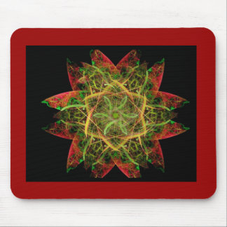 Flame Fractal Art Mouse Pad