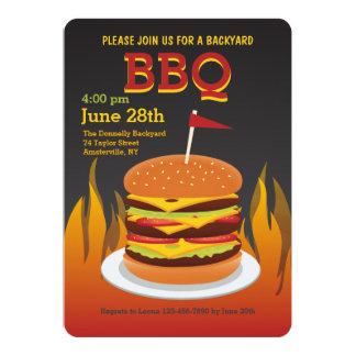 Flame Grilled Burger Invitation