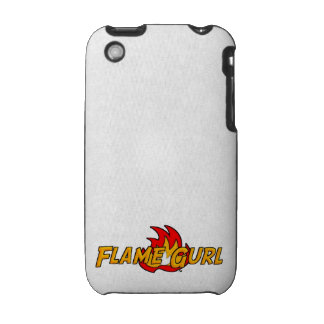 Flame Gurl Logo iPhone 3 Cover