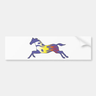 Flame Horse Bumper Sticker