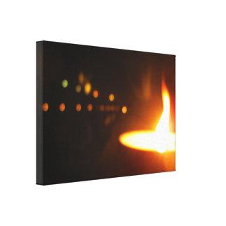 Flame Lens Reflection Canvas Print