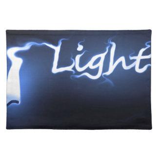 Flame light concept. placemat