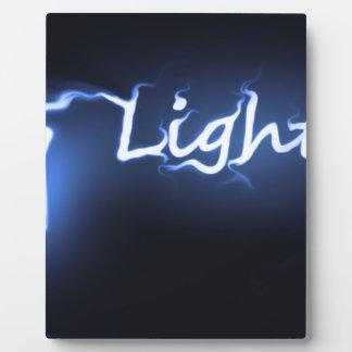 Flame light concept. plaque