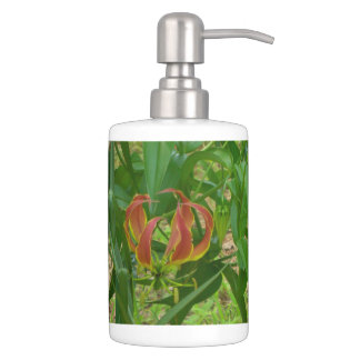 Flame Lily Flower Bathroom set