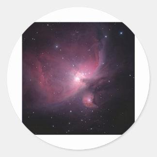 Flame Nebula Round Sticker