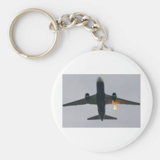 FLAME OUT BASIC ROUND BUTTON KEY RING