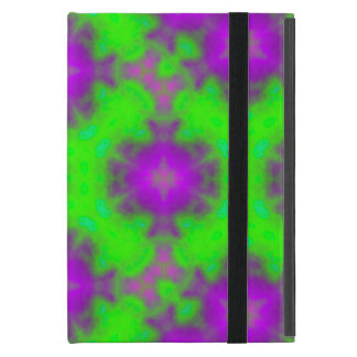flame pattern green purple iPad mini case