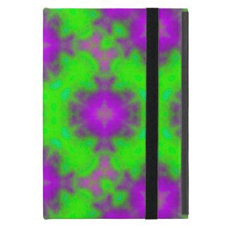 flame pattern green purple iPad mini cover