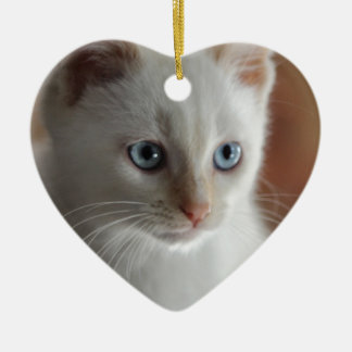 Flame Point Blue Eyes Christmas Ornament