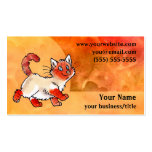 Flame-Point Cat Business Card - Fiery Orange