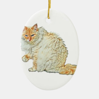 Flame point siamese cat 2 christmas ornament